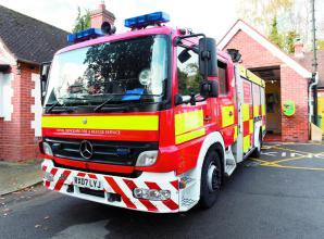 Maidenhead firefighters extinguish fire in Taplow