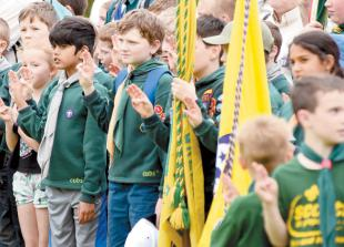 In pictures: Scouts celebrate St George's Day