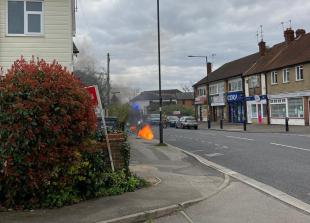 St Marks Road in Maidenhead closed following electrical fire